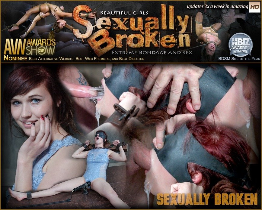 SexuallyBroken.com - Stephie Staar, Matt Williams, Sergeant Miles - Stephie Staar is bound on a vibrator, while being brutally face fucked and deep throated! [HD 720p / BDSM / Humiliation / 2017]