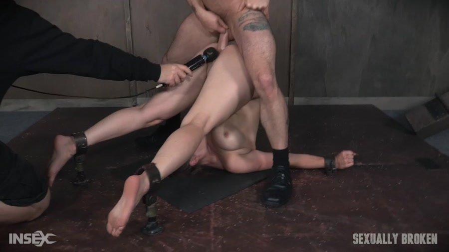 SexuallyBroken.com - Bella Rossi - Bella Rossi is brutally fucked while bound in a extreme pile driver, huge cock massive orgasms! [HD 720p / BDSM / Rough Sex / 2017]