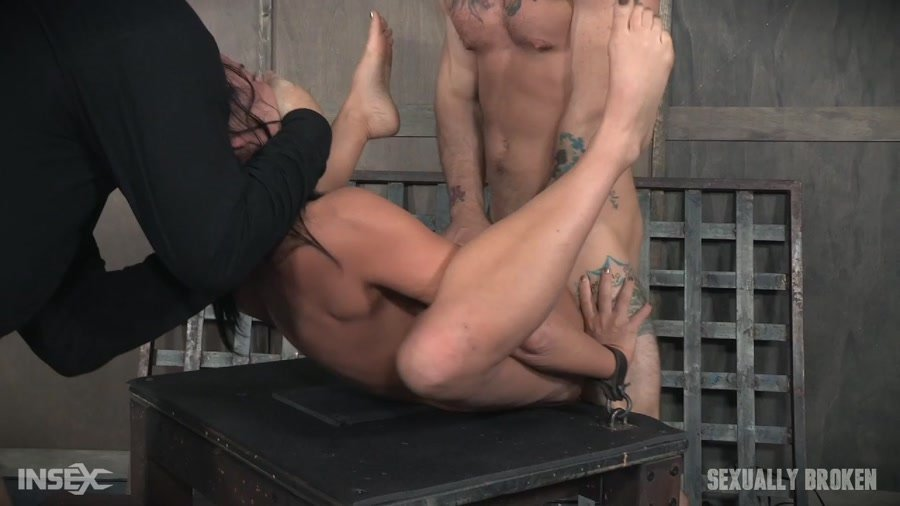 SexuallyBroken.com - London River - London River double fucked into subspace. [HD 720p / BDSM / Rough Sex / 2017]