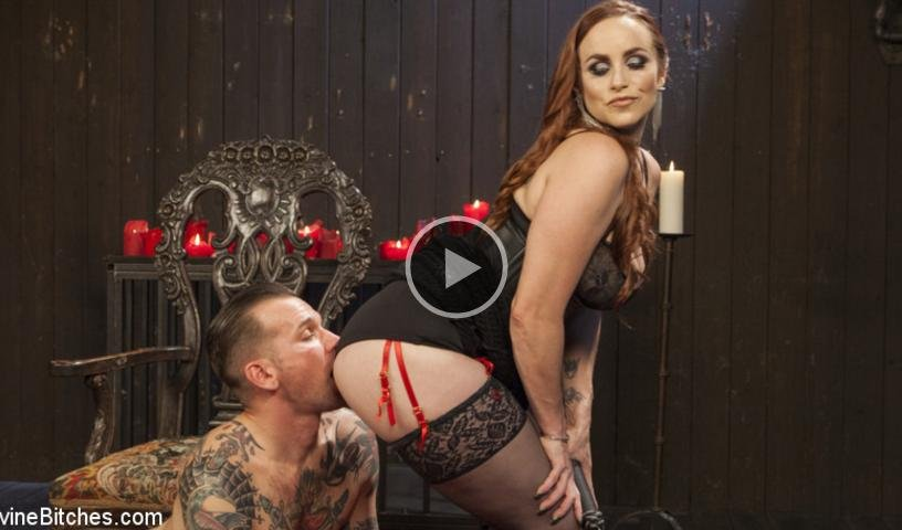 DivineBitches.com - Bella Rossi And Will Havoc - The Perfect Slave For Perfect Service [SD / Femdom / Rough Sex / 2017]