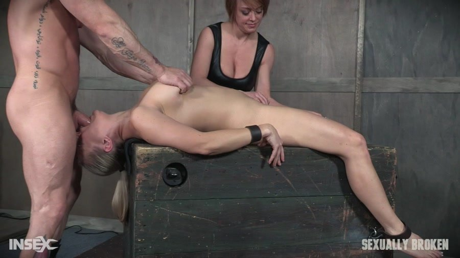 SexuallyBroken.com - ANGEL ALLWOOD - Part 1 Angel Allwood is neck bound on a Sybian and throat fucked while violently cumming over and over! [HD 720p / BDSM / Extreme Rough Sex / 2017]