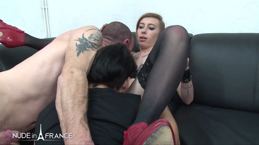 NudeInFrance.com - Sarah Weedx, Ellenna Corellia, Amelie Pucycat - Three Hotties Gets Hard Bange [HD 720p / France / Amateur / 2017]