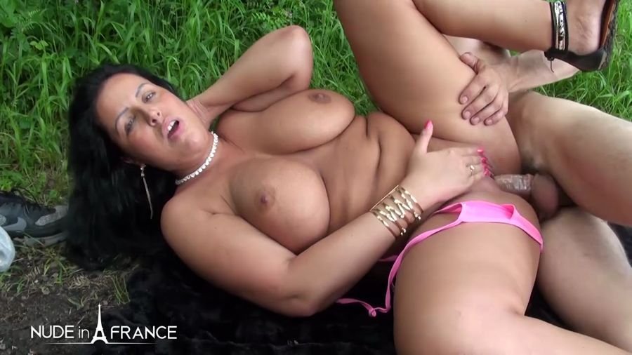 NudeInFrance.com - Tatyana Chubby - Amateur French Arab With Huge Naturel Boobs Gets Hard Fucked And Jizzed On Her b [HD 720p / France / Amateur / 2017]