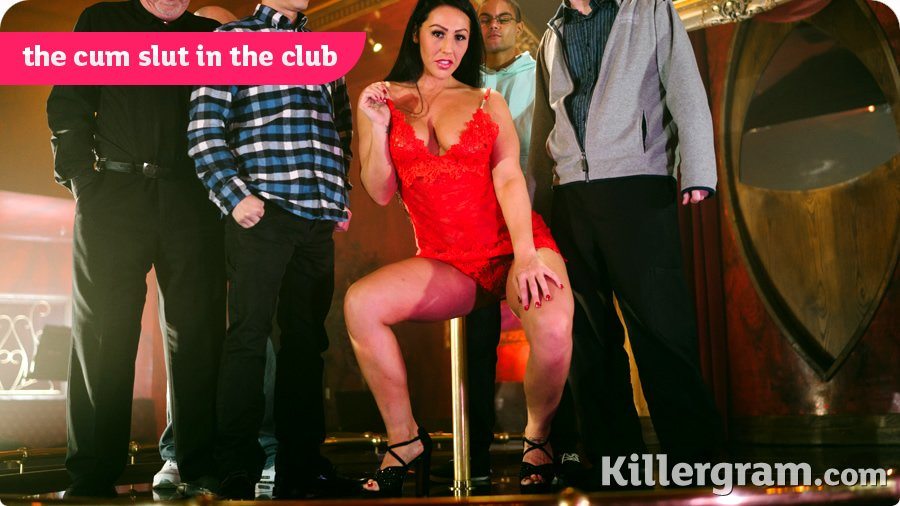 KillerGram.com - Candi Kayne - The Cum Slut In The Club [HD 720p / GangBang / Blowjob / 2017]