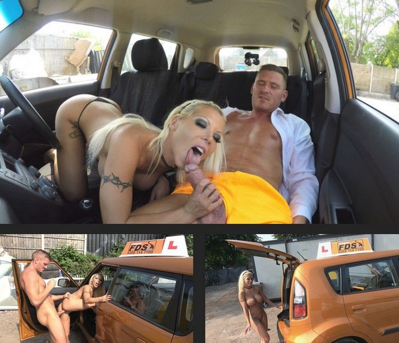 FakeDrivingSchool.com - Barbie Sins - Barbie earns her pass with a facial [SD / Blonde / Big Tits / 2017]