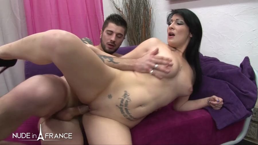 NudeInFrance.com - Sarah Weedx - Casting Couch Of a Gorgeous  Yo Brunette Banged With Cum On Tits [HD 720p / Amateur / France / 2017]