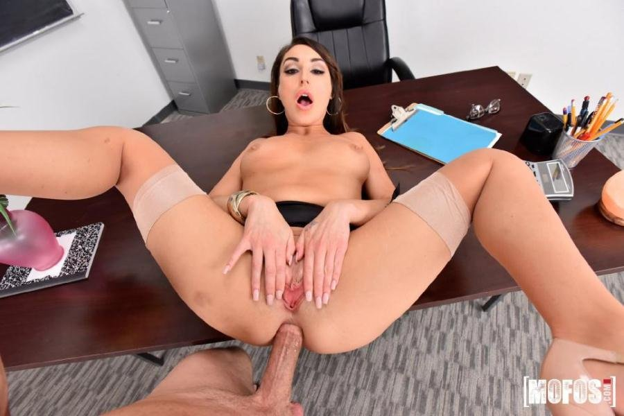 Mofos.com - Christiana Cinn - Anal Lesson From Tutor in Stockings [SD / Anal / All Sex / 2017]