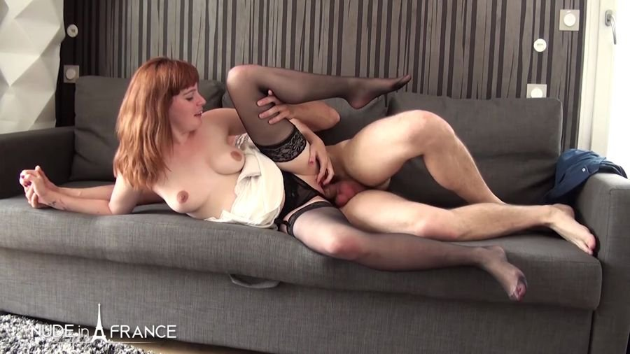 NudeInFrance.com - Lolita - A Young Redhead Slut With a Big Butt Sucks And Fucks And Gets Her Breast Cum Covered [HD 720p / Amateur / France / 2017]