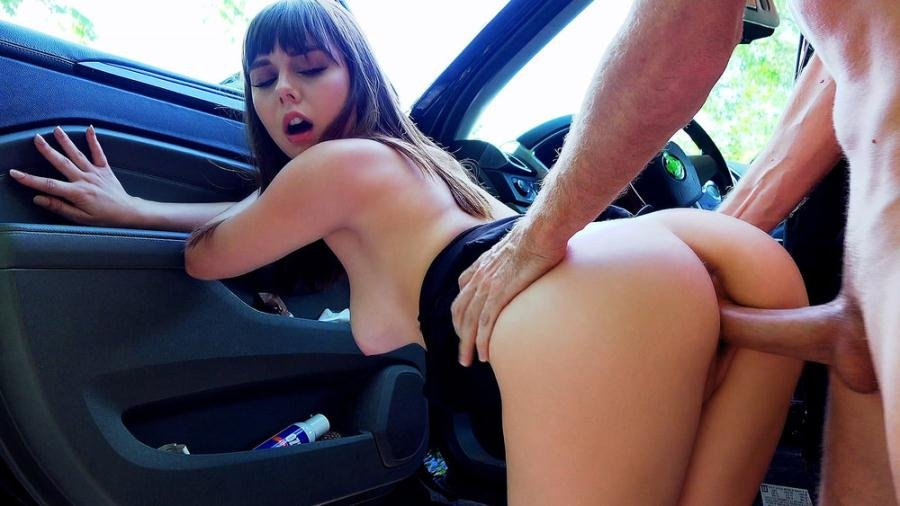 StrandedTeens.com - Shae Celestine - Roadside Sex With Teen Cutie [SD / Outdoors / Reverse Cowgirl / 2017]