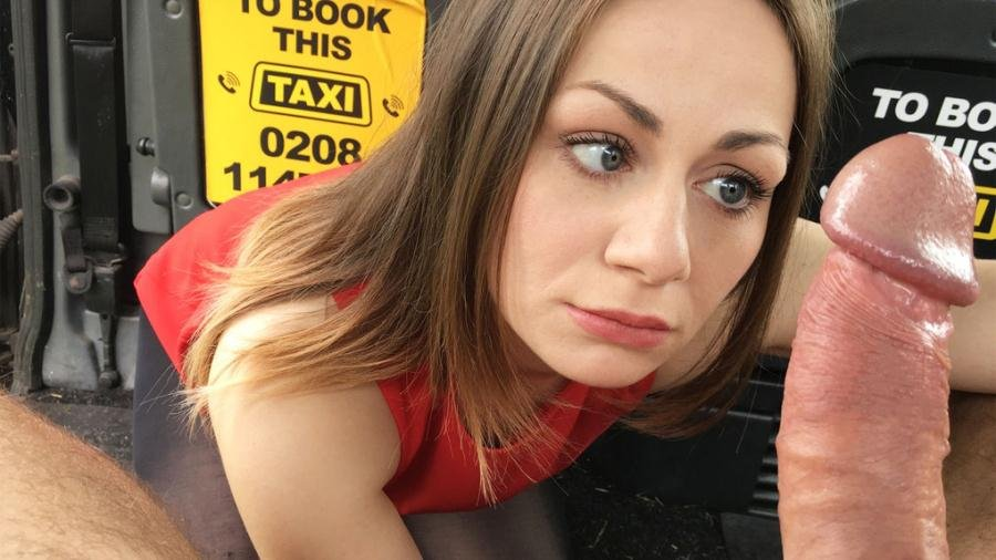 FakeTaxi.com - Star Del Ray - Amazing deepthroat gagging brunette [SD / Swallow / All Sex / 2017]