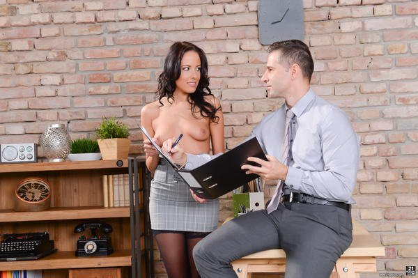 PixandVideo.com - Lexi Layo - Naughty Secretary [SD / All Sex / Brunette / 2017]