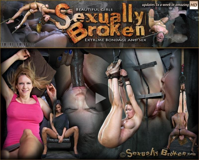 SexuallyBroken.com - Rain DeGrey, Natassia Dreams - Good cop, Bad cop Rains down hard on The DeGrey, Extreme S&M update with Throat fucking! [HD / 2013]