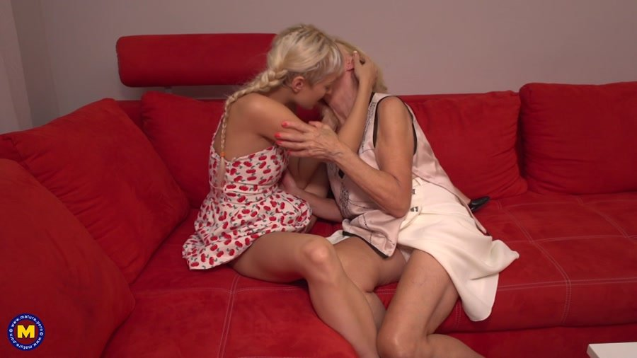 Mature.eu - Eleanor (69), Natasja (26) - 2 Old And Young Lesbians Playing With Eachother [FullHD 1080p / MILF, Mature, lesbians / 2017]