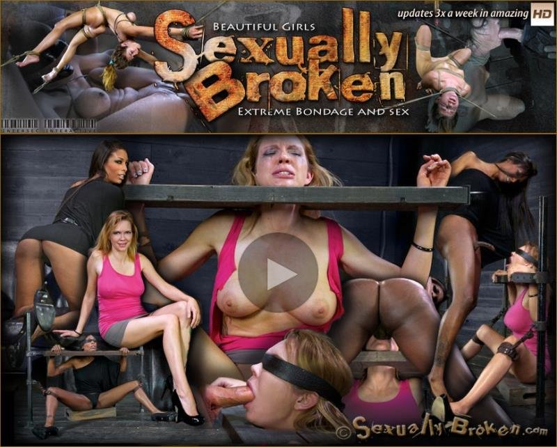 SexuallyBroken.com - Rain DeGrey, Natassia Dreams, Matt Williams - Sexy blond, with long legs, gets brutally throat fucked by two cocks! suffers multiple orgasms! [HD / 2013]