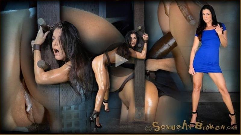 SexuallyBroken.com - India Summer, Matt Williams, Jack Hammer - Stunning MILF India Summer belted down to a post and bred, 10 inch BBC and creampies! [HD / 2014]