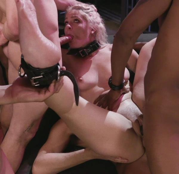 BoundGangBangs.com/Kink.com - Lisey Sweet - Caged Gangbang Slut: Submissive Lisey Sweet Gets Holes Cracked Open [SD /  / 2017]