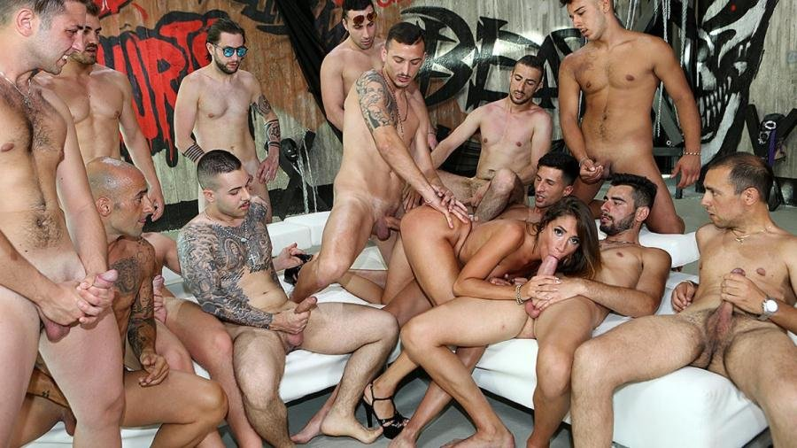 PinkoClub.com - Malena - Malena against all the cocks [FullHD 1080p / Gangbang, Anal / 2017]