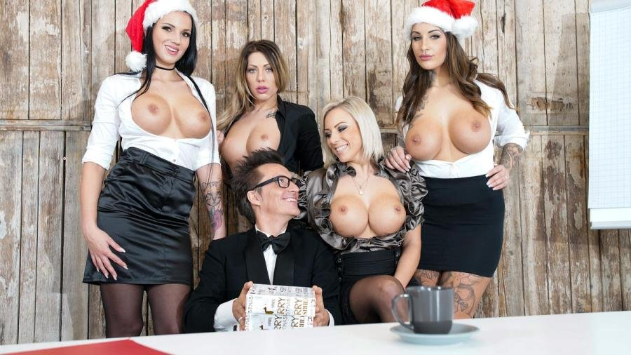 PornDoePremium.com - Jolee Love, Lilli Vanilli And Mia Blow - German babes Jolee Love & Lilli Vanilli in Christmas group sex affair Pt.1 [FullHD 1080p / Babe, Big Tits, Group / 2017]