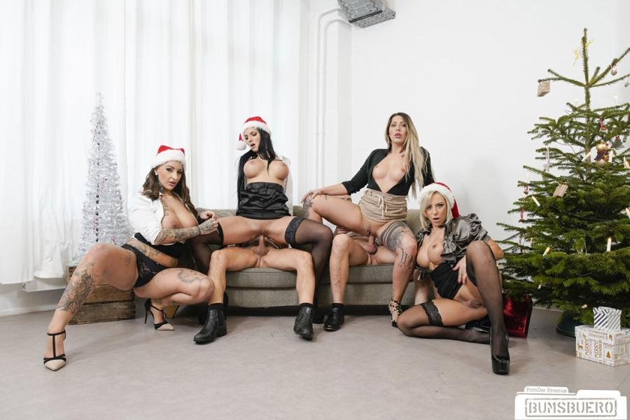 BumsBuero.com - Mia Blow, Jolee Love, Lilli Vanilli - German babes Pt.2 [FullHD 1080p / Group Sex, Hardcore, Uniform / 2017]