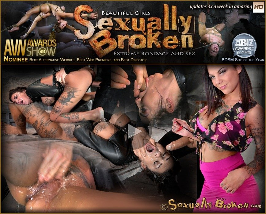 SexuallyBroken.com - Bonnie Rotten - AVN winner Bonnie Rotten bound in a straightjacket and roughly fucked hard, epic deepthroat! [HD 720p /  / 2017]