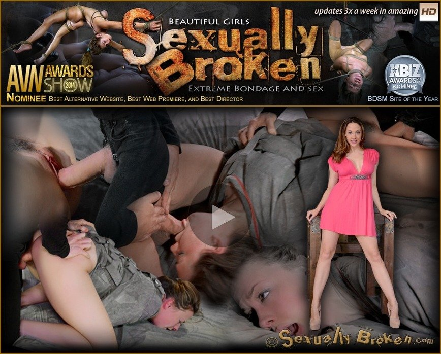 SexuallyBroken - Chanel Preston - Chanel Preston tagteamed by dick, ragdoll fucked while straightjacketed, brutal epic deepthroat! [HD 720p / BDSM / 2018]