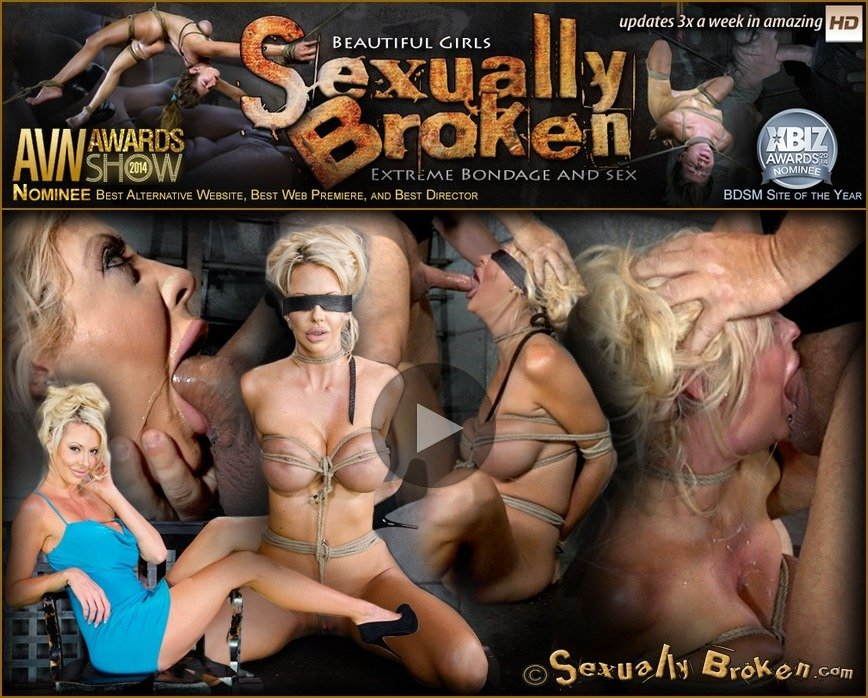 SexuallyBroken.com - Courtney Taylor, Matt Williams - Big titted blonde Courtney Taylor bound blindfolded and facefucked, epic drooling deepthroating! [SD / BDSM / 2018]