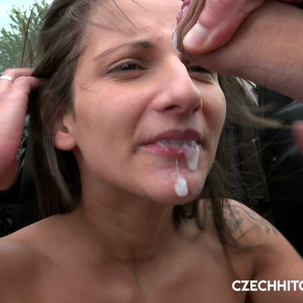 CzechHitchHikers.com/PornCZ.com - Nicolette Noir - Czech bitch picked up at the bus station [HD /  / 2018]
