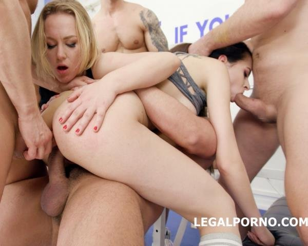 LegalPorno.com - Victoria J, Liberta Black - Victoria J And Liberta Black Anal Battle In The Gym With No Pussy, Squirt, Anal Fist, Squirt To Mouth, Cum Swapping GIO589 [SD / Teen, Young / 2018]