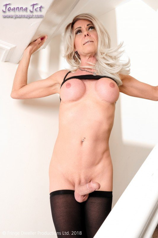 JoannaJet.com - Joanna Jet - Me and You 301 / Staircase Sheer [FullHD 1080p / Shemale, Solo / 2018]