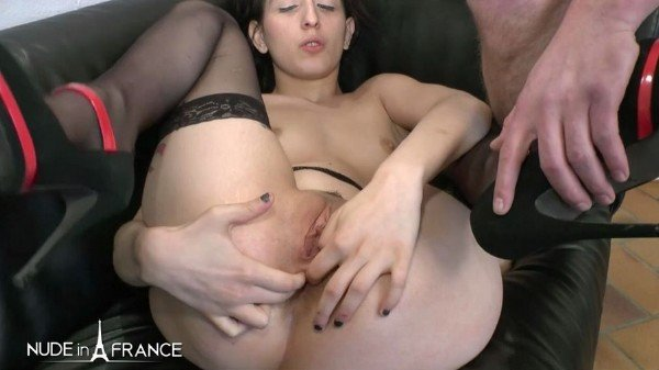 NudeInFrance.com - Lilou Sou - Young brunette with small tits in love with rimming, fisting and anal fucking [SD / Brunette / 2018]