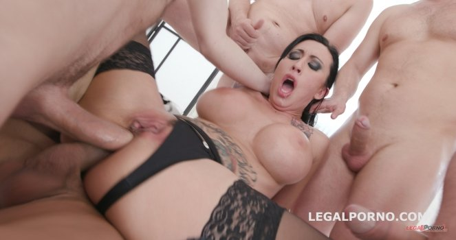 LegalPorno.com - Lily Lane - Monsters of DAP with Lily Lane Balls Deep Anal / Balls Deep DAP / Gapes / Swallow GIO659 [HD / Blonde / ]