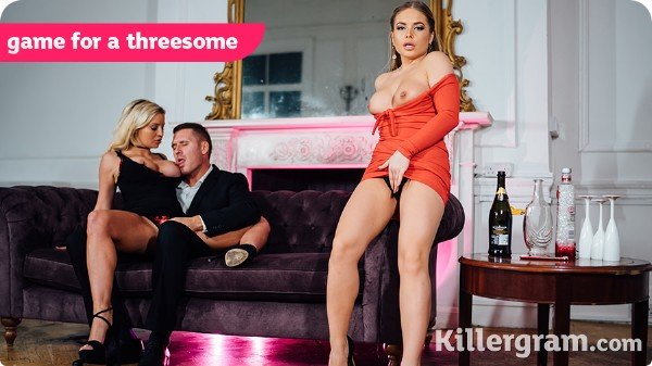 Pornostatic.com/KillerGram.com - Sienna Day, Alessandra Jane - Game for a threesome [SD /  /  2018]
