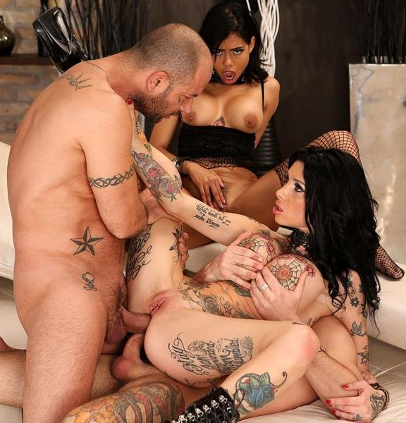 RoccoSiffredi.com - Canela Skin, Megan Inky, Mike Angelo, John Price - Bi MILF/Teen/Stud 3-Way: DP, DVP, DAP! [SD / Teen, Young /  2018]