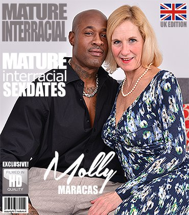 Mature - Molly Maracas (54) - British housewife Molly Maracas goes interracia [SD / Blowjob /  2018]