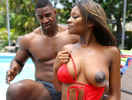 BrownBunnies - Lola Chanel - Ebony Lola Gets Stepbro Dick [SD /  /  2018]
