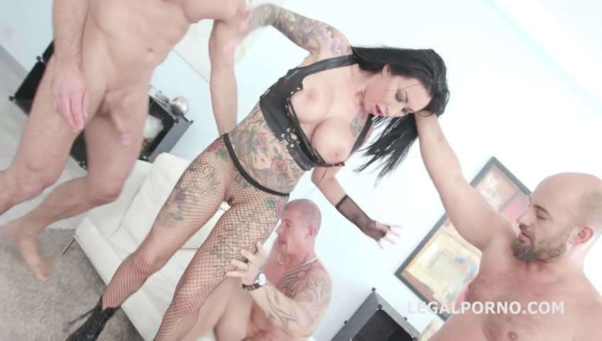 LegalPorno.com - Lily Lane, Neeo, Thomas Lee, Max Born, Matt, Larry Steel - Monsters of DAP, Lily Lane gets 5on1 Balls Deep Anal, DAP, TP, Gapes, Airplane, Swallow GIO814 [SD / Gangbang /  2018]