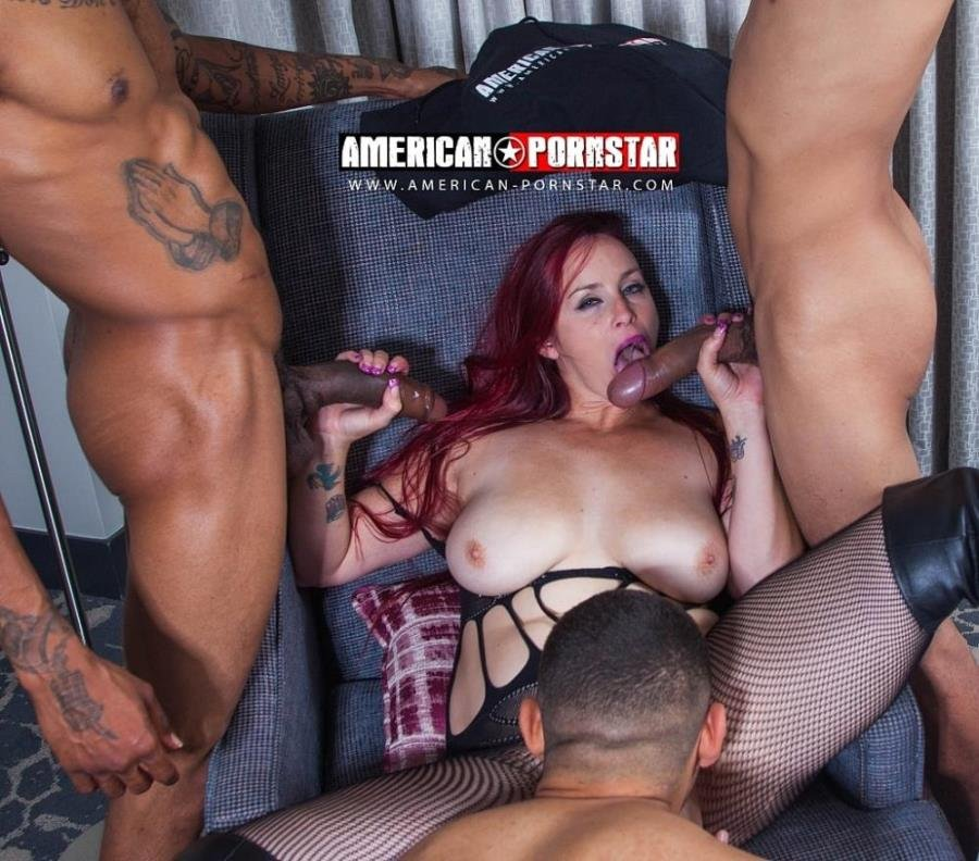 American-Pornstar.com - Bella Rossi - Takes 4 BIG DICKS Part 2 [SD / Gangbang /  2018]