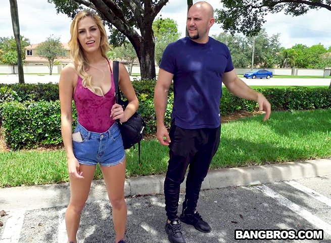 BangBus.com / BangBros.com - Aspen Celeste - Doing Yoga on The Bus [SD / Blonde /  2018]