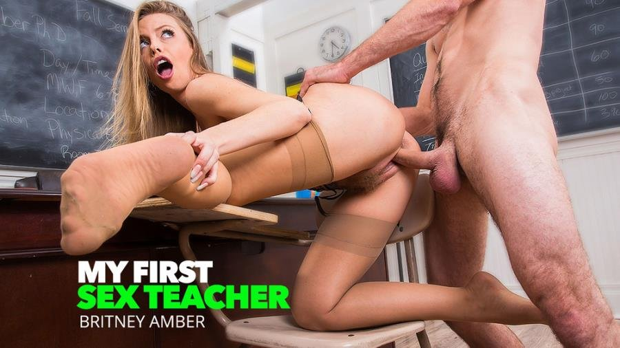 MyFirstSexTeacher.com / NaughtyAmerica.com - Britney Amber - Professor Amber Takes Her Students Big Cock [SD / Students /  2018]