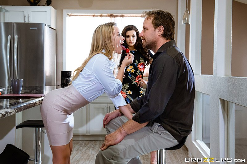 HotAndMean.com / Brazzers.com - Kimber Woods  Lilly Ford - You Have To Go Through Me First [SD / Latina /  2018]