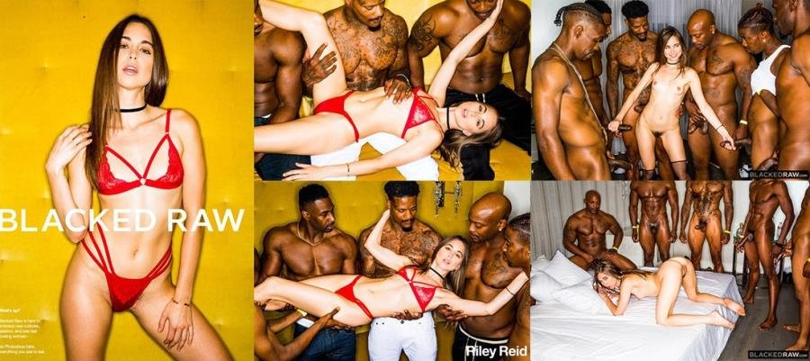 BlackedRaw.com - Riley Reid - Girlfriend Gangbang At The After Party [SD / Gangbang /  2018]
