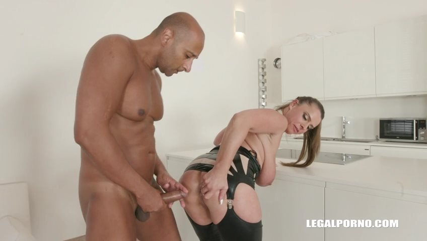 LegalPorno - Sexy Susi - Sexy Susi goes all black  takes two cocks in the ass IV184 [SD / Gangbang /  2018]