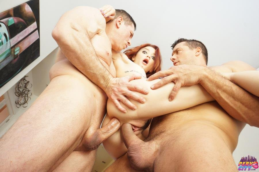 AnalOverdose.com - Lola Fae - Tiny Spinner Double Stuffed By Two Big Cocks [SD / Teen, Young /  2019]