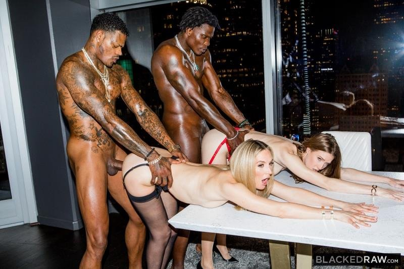 BlackedRaw.com - Ashley Lane, Mona Wales - Girls Night [SD / Hairy /  2019]