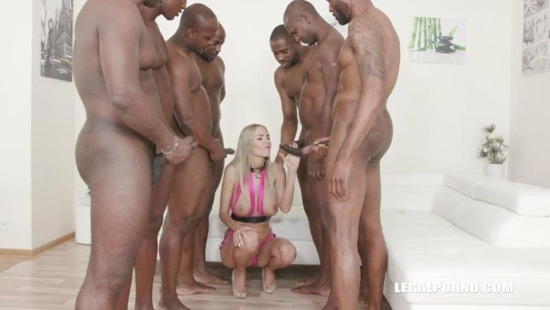 LegalPorno - Florane Russell - Florane Russell Interracial gangbang with double anal IV289 [SD /  /  2019]