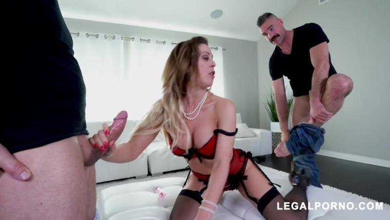 LegalPorno.com - Cherie DeVille, John Strong, Charles Dera - Horny Cherie DeVille gets all her holes filled AB018 (2019) SD 480p [SD / Toys /  2019]