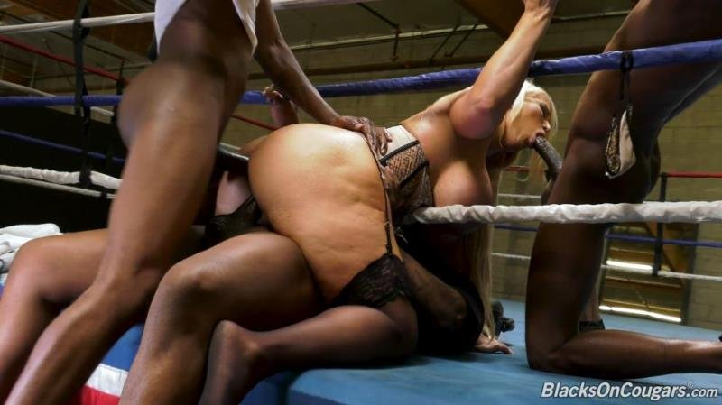 BlacksOnCougars.com - Alura Jenson - Foursome [SD / Blowjob /  2019]