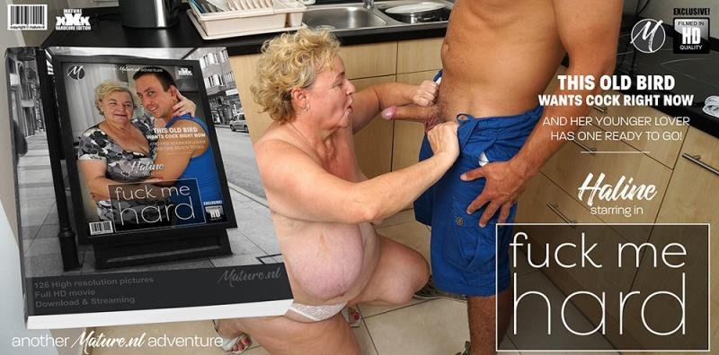 Mature.nl - Haline (63) - Big breasted Granny Haline loves to get a good fuck from her way younger lover [SD / Blowjob /  2019]