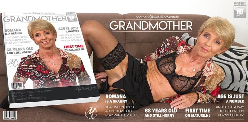 Mature.nl - Romana (68) - Naughty granny having time to play with herself [SD / Toys /  2019]