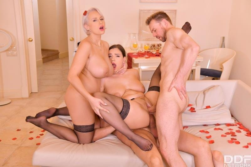 HandsOnHardcore.com - Angel Wicky, Sofia Lee - Wild Group Sex For ValentineS Day [SD / Blonde /  2020]